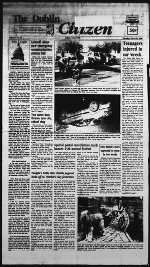 Primary view of The Dublin Citizen (Dublin, Tex.), Vol. 6, No. 28, Ed. 1 Thursday, March 14, 1996