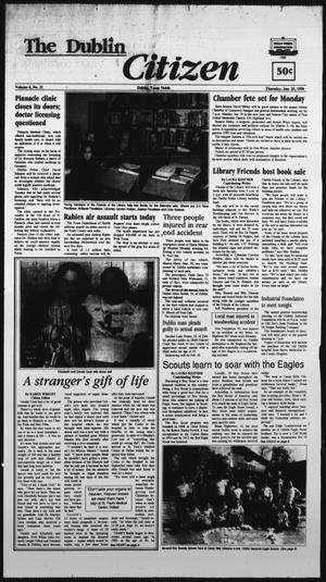 Primary view of The Dublin Citizen (Dublin, Tex.), Vol. 6, No. 21, Ed. 1 Thursday, January 25, 1996