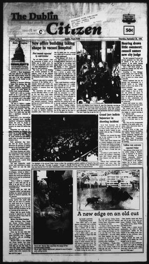 Primary view of The Dublin Citizen (Dublin, Tex.), Vol. 7, No. 5, Ed. 1 Thursday, September 26, 1996