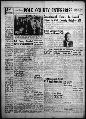 Primary view of Polk County Enterprise (Livingston, Tex.), Vol. 76, No. 3, Ed. 1 Thursday, October 3, 1957