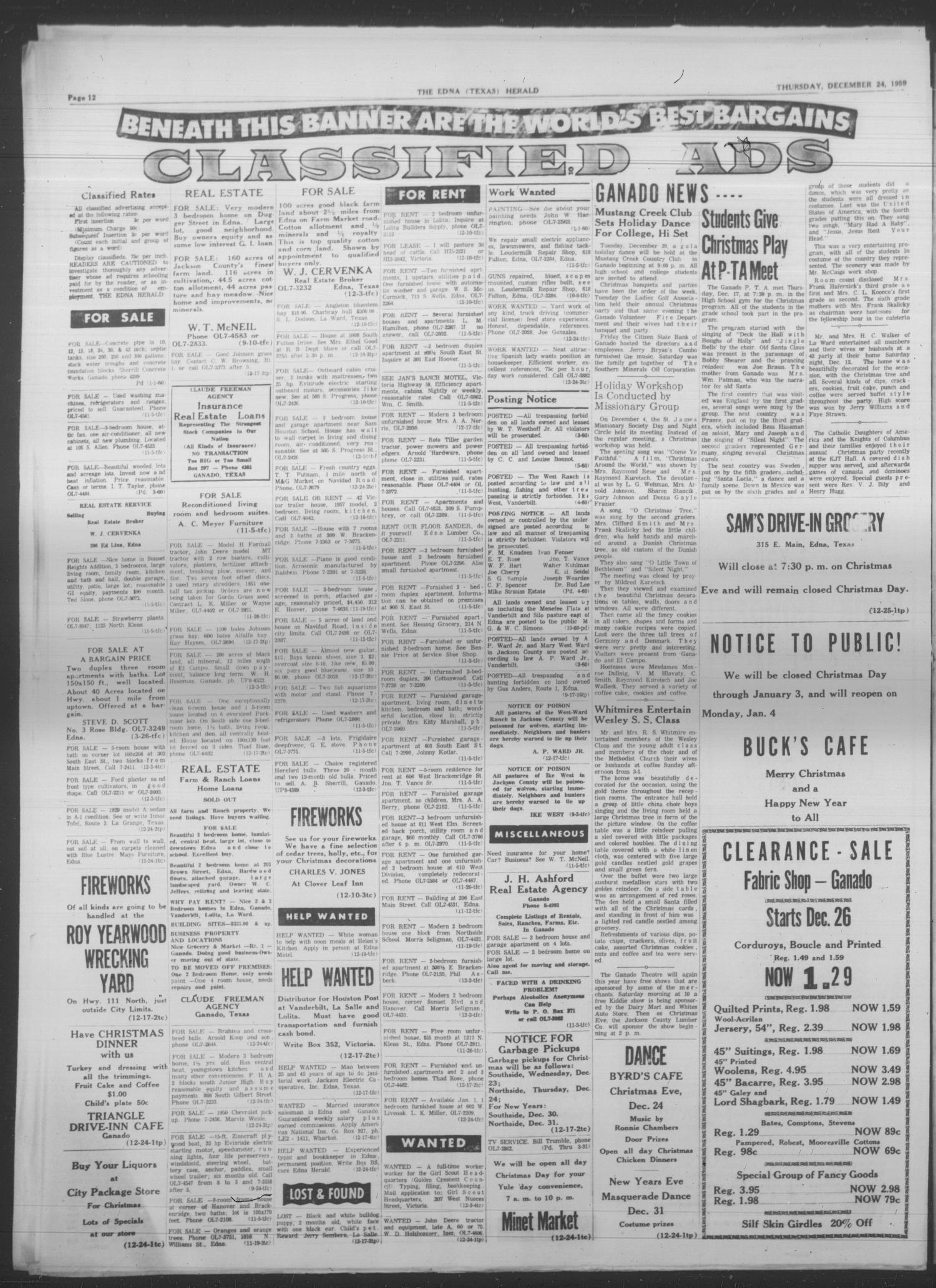 The Edna Herald (Edna, Tex.), Vol. 54, No. 9, Ed. 1 Thursday ...