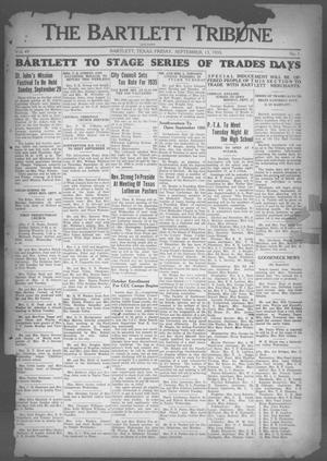 Primary view of object titled 'The Bartlett Tribune and News (Bartlett, Tex.), Vol. 49, No. 1, Ed. 1, Friday, September 13, 1935'.