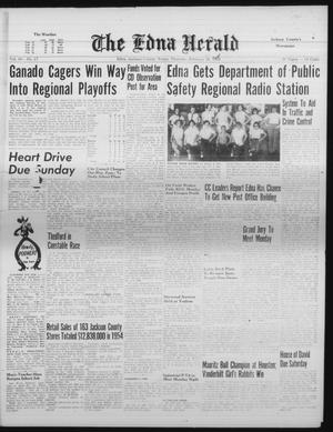 Primary view of object titled 'The Edna Herald (Edna, Tex.), Vol. 50, No. 17, Ed. 1 Thursday, February 23, 1956'.