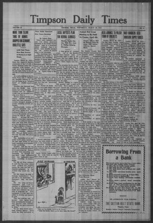 Primary view of Timpson Daily Times (Timpson, Tex.), Vol. 43, No. 61, Ed. 1 Wednesday, March 29, 1944
