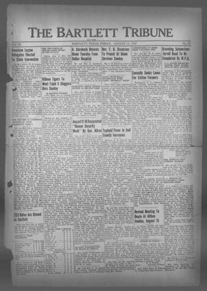 Primary view of object titled 'The Bartlett Tribune and News (Bartlett, Tex.), Vol. 50, No. 47, Ed. 1, Friday, August 13, 1937'.