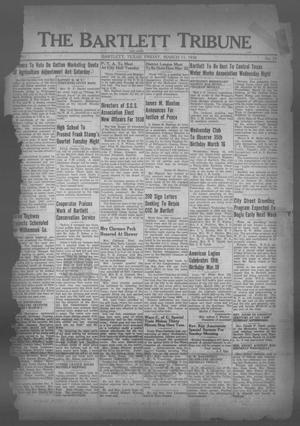 Primary view of object titled 'The Bartlett Tribune and News (Bartlett, Tex.), Vol. 51, No. 25, Ed. 1, Friday, March 11, 1938'.