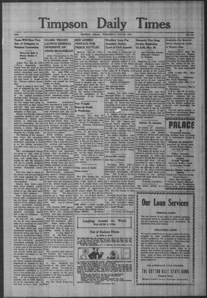 Primary view of object titled 'Timpson Daily Times (Timpson, Tex.), No. 101, Ed. 1 Wednesday, May 24, 1944'.