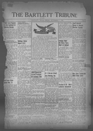 Primary view of object titled 'The Bartlett Tribune and News (Bartlett, Tex.), Vol. 52, No. 8, Ed. 1, Friday, November 11, 1938'.