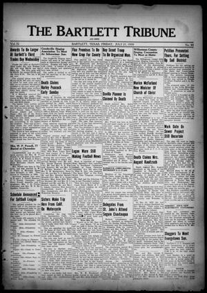 Primary view of object titled 'The Bartlett Tribune and News (Bartlett, Tex.), Vol. 52, No. 44, Ed. 1, Friday, July 21, 1939'.