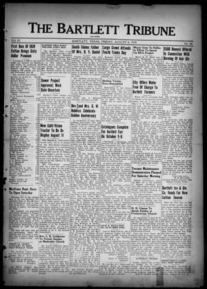 Primary view of object titled 'The Bartlett Tribune and News (Bartlett, Tex.), Vol. 52, No. 46, Ed. 1, Friday, August 4, 1939'.