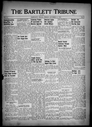 Primary view of object titled 'The Bartlett Tribune and News (Bartlett, Tex.), Vol. 53, No. 4, Ed. 1, Friday, October 13, 1939'.