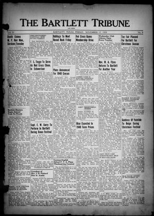 Primary view of object titled 'The Bartlett Tribune and News (Bartlett, Tex.), Vol. 53, No. 9, Ed. 1, Friday, November 17, 1939'.