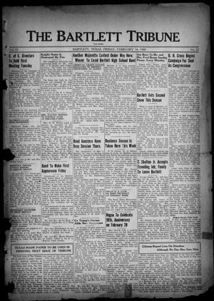 The Bartlett Tribune and News (Bartlett, Tex.), Vol. 53, No. 22, Ed. 1, Friday, February 16, 1940