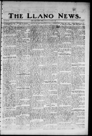 Primary view of The Llano News. (Llano, Tex.), Vol. 42, No. 7, Ed. 1 Thursday, October 31, 1929