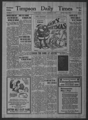 Primary view of Timpson Daily Times (Timpson, Tex.), Vol. 35, No. 253, Ed. 1 Tuesday, December 22, 1936