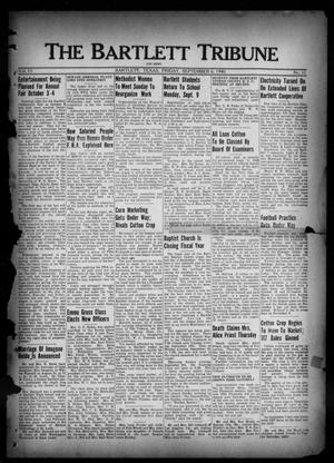Primary view of object titled 'The Bartlett Tribune and News (Bartlett, Tex.), Vol. 53, No. 51, Ed. 1, Friday, September 6, 1940'.