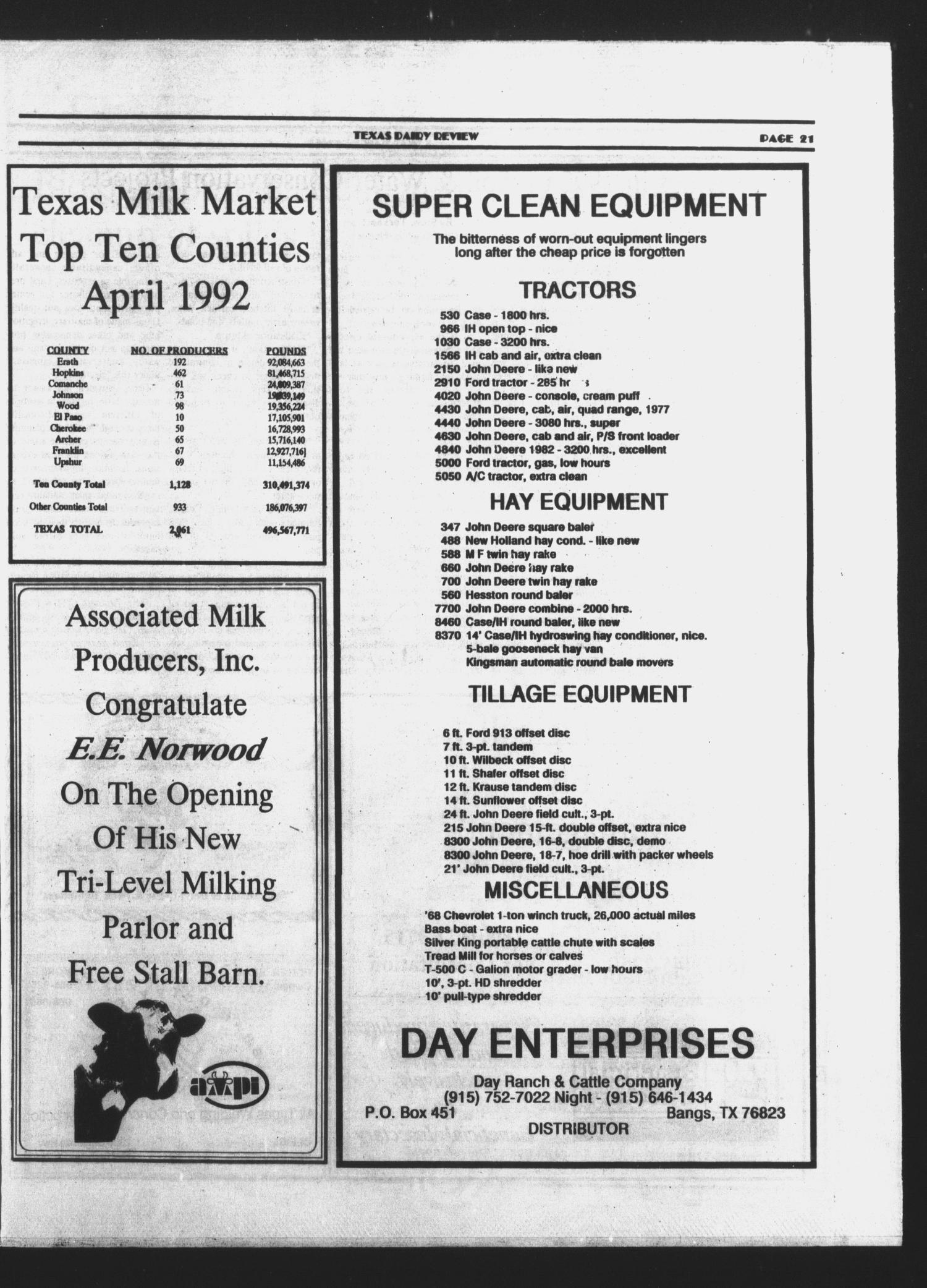 Texas Dairy Review (Stephenville, Tex ), Vol  1, No  4, Ed