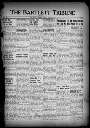 Primary view of object titled 'The Bartlett Tribune and News (Bartlett, Tex.), Vol. 54, No. 4, Ed. 1, Friday, October 11, 1940'.