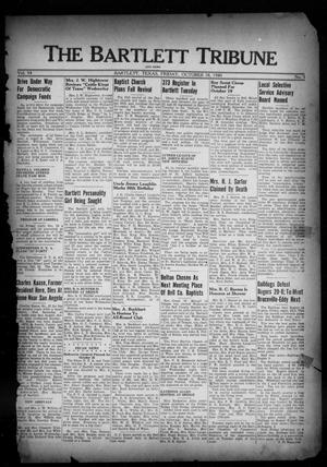 Primary view of object titled 'The Bartlett Tribune and News (Bartlett, Tex.), Vol. 54, No. 5, Ed. 1, Friday, October 18, 1940'.