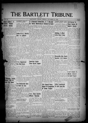 Primary view of object titled 'The Bartlett Tribune and News (Bartlett, Tex.), Vol. 54, No. 6, Ed. 1, Friday, October 25, 1940'.