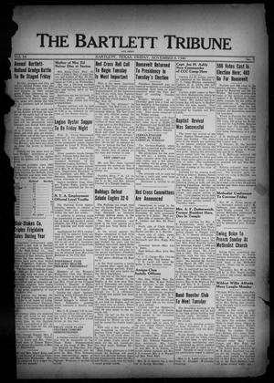 Primary view of object titled 'The Bartlett Tribune and News (Bartlett, Tex.), Vol. 54, No. 8, Ed. 1, Friday, November 8, 1940'.