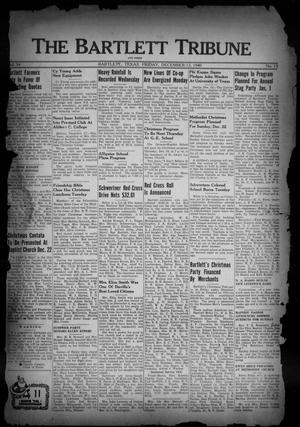 Primary view of object titled 'The Bartlett Tribune and News (Bartlett, Tex.), Vol. 54, No. 13, Ed. 1, Friday, December 13, 1940'.