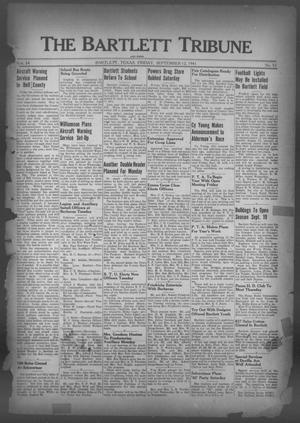Primary view of object titled 'The Bartlett Tribune and News (Bartlett, Tex.), Vol. 54, No. 52, Ed. 1, Friday, September 12, 1941'.