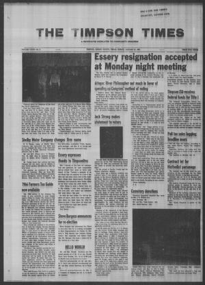 Primary view of object titled 'The Timpson Times (Timpson, Tex.), Vol. 81, No. 3, Ed. 1 Friday, January 21, 1966'.