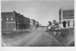 Primary view of object titled '[Downtown Rosenberg, c. 1910]'.