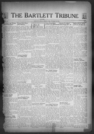 Primary view of object titled 'The Bartlett Tribune and News (Bartlett, Tex.), Vol. 57, No. 9, Ed. 1, Friday, November 12, 1943'.