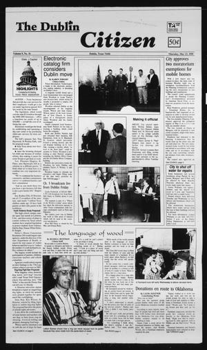 Primary view of The Dublin Citizen (Dublin, Tex.), Vol. 9, No. 36, Ed. 1 Thursday, May 13, 1999