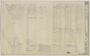 Primary view of School Shop Building Iraan, Texas: Foundation Plan and Details