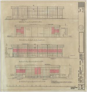 Primary view of object titled 'School Gymnasium Building Iraan, Texas: Revised Elevations'.