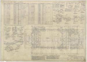 High School Building Monahans, Texas: First Floor Framing Plan, High School Building for Monahans-Wickett Independent School District, Monahans, Texas: Sheet S-3, High School Building, Monahans, Texas, School Buildings