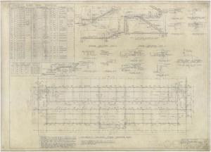 Primary view of object titled 'High School Building Monahans, Texas: Academic Second Floor Framing Plan'.
