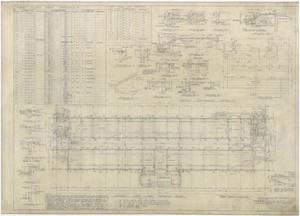 Primary view of object titled 'High School Building Monahans, Texas: Academic First Floor Framing Plan'.