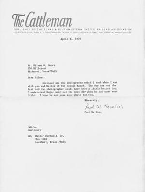 "Primary view of object titled '[Letter with letterhead ""The Cattleman""]'."