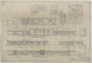 Primary view of object titled 'Consolidated Community School Building Monahans, Texas: Elevations'.