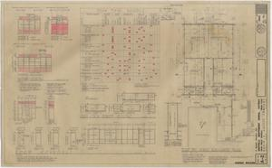 Primary view of object titled 'School Science Building Iraan, Texas: Floor Plan and Work Schedule'.
