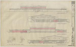 Primary view of object titled 'School Gymnasium Building Iraan, Texas: Elevations'.