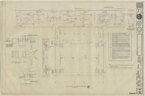 Primary view of object titled 'School Gymnasium Building Iraan, Texas: Heating Floor Plan'.