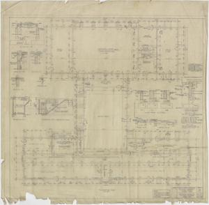 Primary view of object titled 'High School Building Kermit, Texas: Foundation Plan'.