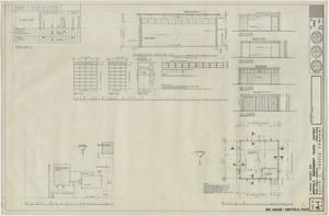 Primary view of object titled 'Bus Garage Sheffield, Texas: Plot and Floor Plan'.