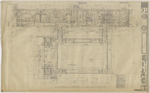 Primary view of object titled 'School Gymnasium Building Iraan, Texas: Floor Plan'.