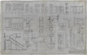 Primary view of object titled 'Rule High School Building Rule, Texas: Miscellaneous Details'.