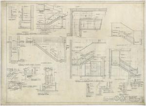 Primary view of object titled 'High School Building Monahans, Texas: Stair Details'.