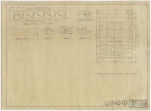 Primary view of object titled 'Winters School Project, Winters, Texas: Playing Court Area Roof Framing Plan'.