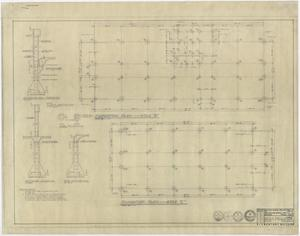 Primary view of object titled 'Winters School Project, Winters, Texas: Foundation Plans - Areas B and C'.