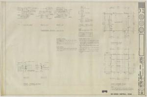 Primary view of object titled 'Bus Garage Sheffield, Texas: Foundation and Roof Plans'.