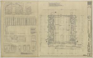 Primary view of object titled 'School Gymnasium Building Iraan, Texas: Revised Floor Plan'.